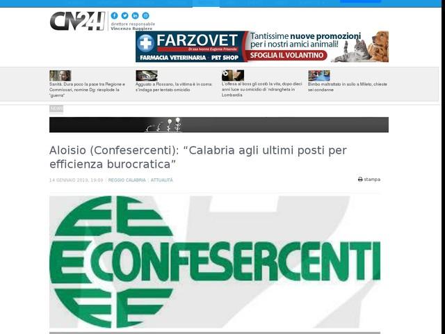 """Aloisio (Confesercenti): """"Calabria agli ultimi posti per efficienza burocratica"""""""