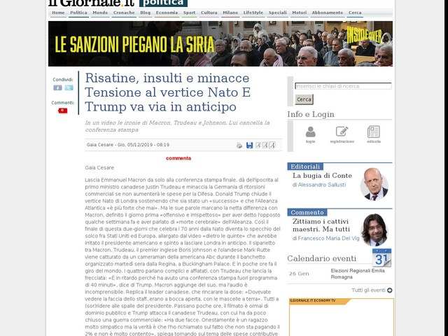 Risatine, insulti e minacce Tensione al vertice Nato E Trump va via in anticipo