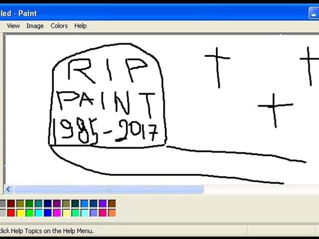 Addio a Paint, ma non definitivamente..