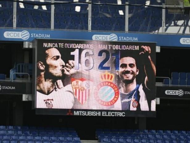 Espanyol-Siviglia, interrotta la gara al 21′ per ricordare Puerta, Reyes e Jarque
