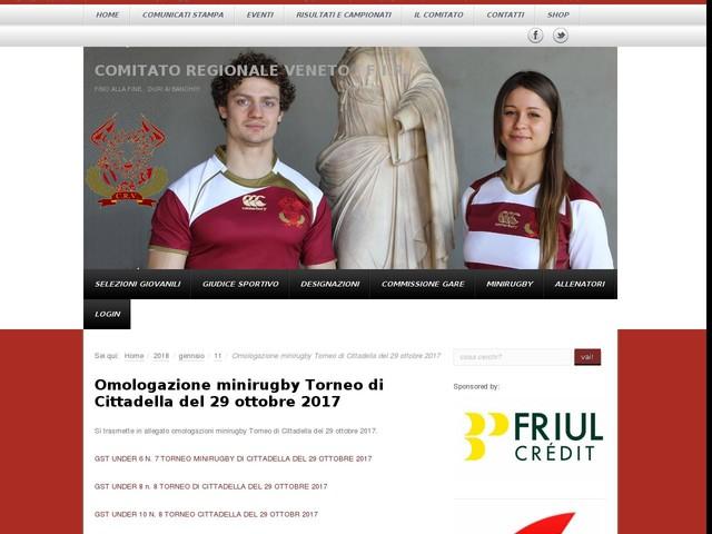 Omologazione minirugby Torneo di Cittadella del 29 ottobre 2017