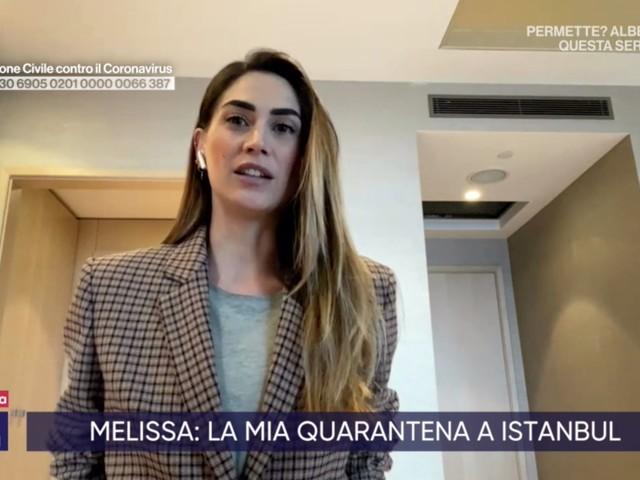 """Coronavirus, Melissa Satta bloccata in Turchia: """"Mio marito ha fatto il test"""""""