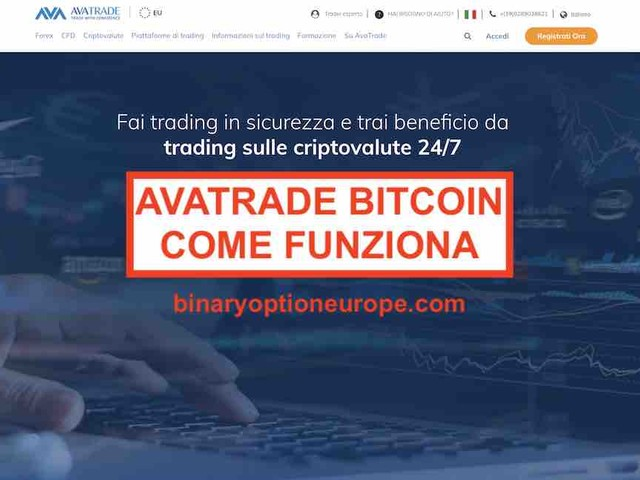 AvaTradeBitcoincome fare trading con le criptovalute [Guida 2019]