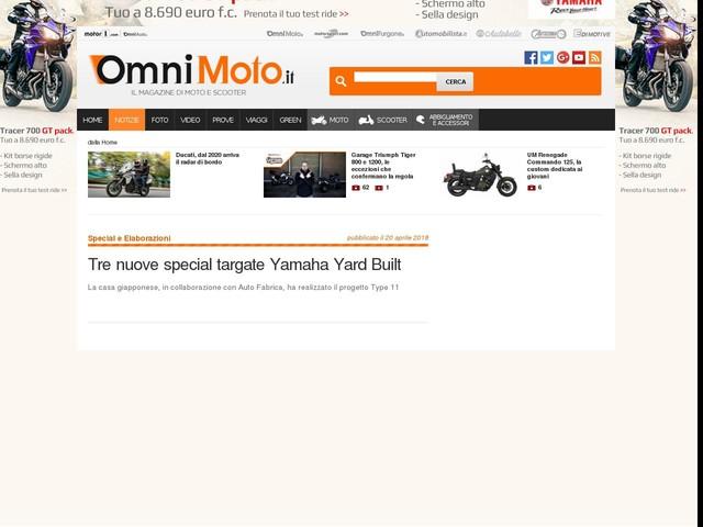 Tre nuove special targate Yamaha Yard Built