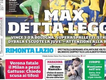 "PRIME PAGINE – ""Maradona felice, bravo Marek! Juve feroce, Mkhitaryan e Pazzini per Inter e Torino"""