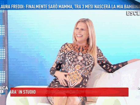 """Laura Freddi a Domenica Live: """"Ho inseguito questo bambino per tanto tempo. Dall'8 gennaio, ogni momento è buono"""""""