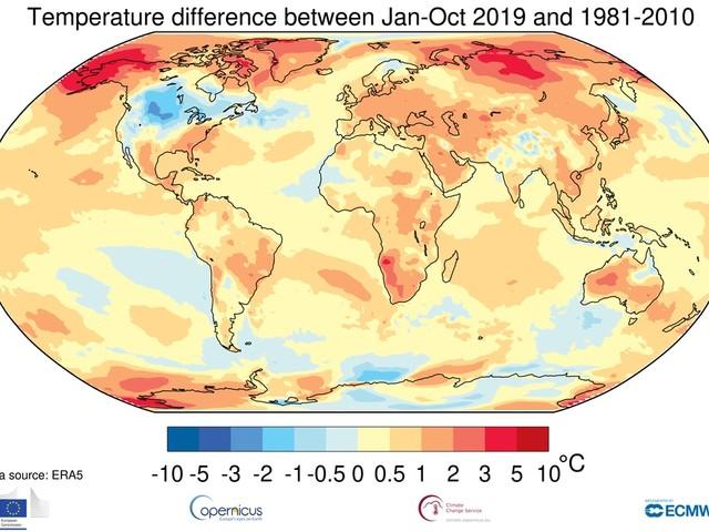 Wmo: il 2019 conclude un decennio di caldo eccezionale e di condizioni meteorologiche a forte impatto globale (VIDEO)