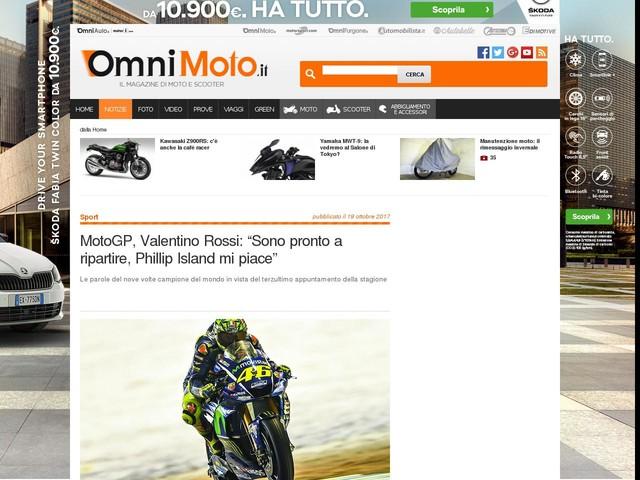 """MotoGP, Valentino Rossi: """"Sono pronto a ripartire, Phillip Island mi piace"""""""