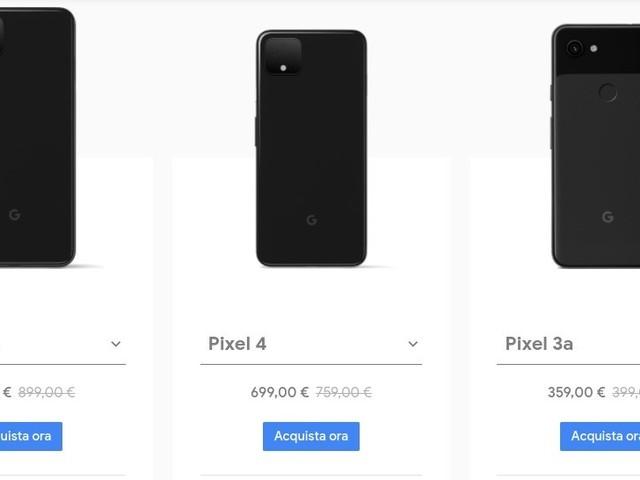Google Pixel 4 e 4 XL scontati di 60 euro sullo store ufficiale fino al 12 gennaio