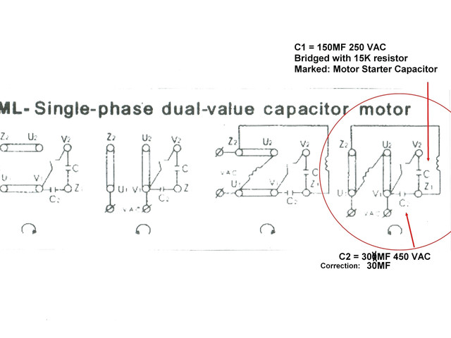 Motor Wiring Diagram Single Phase