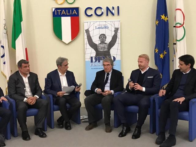 Salone del Coni, Zoff presenta il libro sulla sua esperienza alla Lazio. Molti i presenti vip