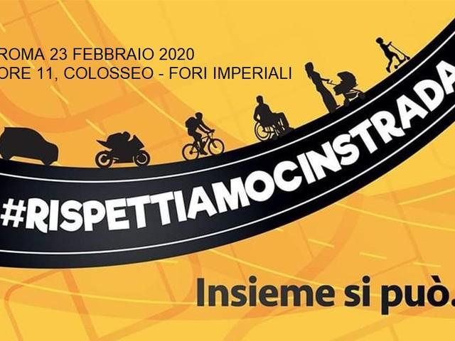 Rispettiamocinstrada, 200 associazioni in piazza a Roma per chiede più sicurezza sulle strade