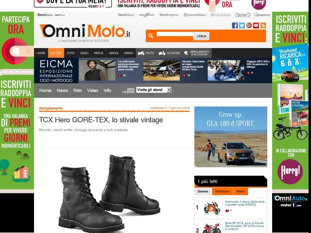 TCX Hero GORE-TEX, lo stivale vintage