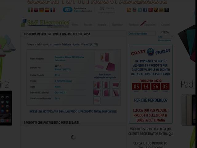 Custodia in Silicone TPU Ultrafine Colore Rosa Apple iPhone 7