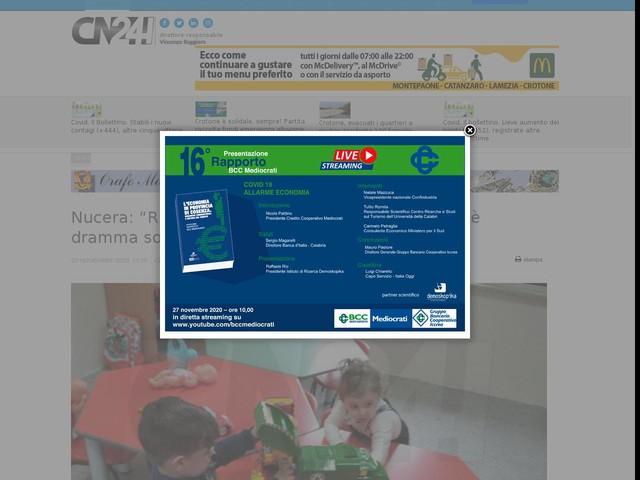 """Nucera: """"Riaprire scuole dell'infanzia in Calabria, è dramma sociale"""""""