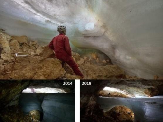 Scompare il permafrost in una grotta delle Alpi Giulie: la terra brucia, roccia più calda e meno stabile
