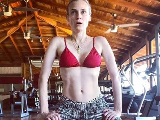 Diane Kruger fiera della sua linea dopo la gravidanza