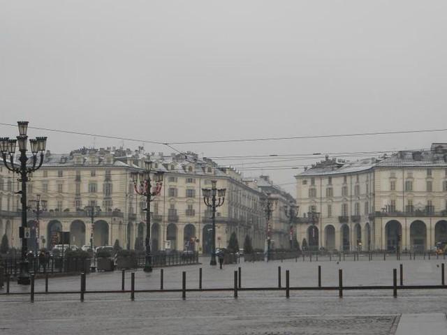 La magia della neve a Torino in un video
