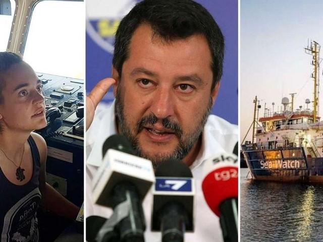 Salvini su Sea Watch: 'Fanno sbarcare altri 200 migranti da nave di Carola'