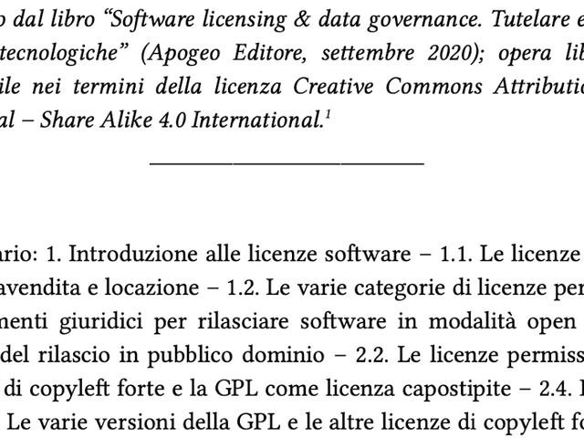 Per una comprensione delle licenze free software e open source