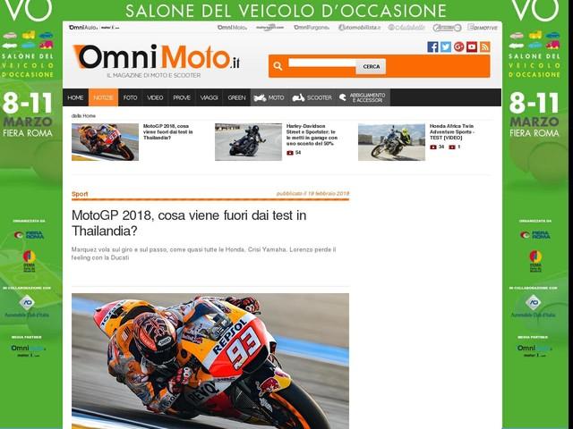 MotoGP 2018, cosa viene fuori dai test in Thailandia?