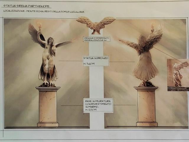 Una statua della sirena Partenope sul Monte Echia a Santa Lucia: il progetto dello scultore Canone