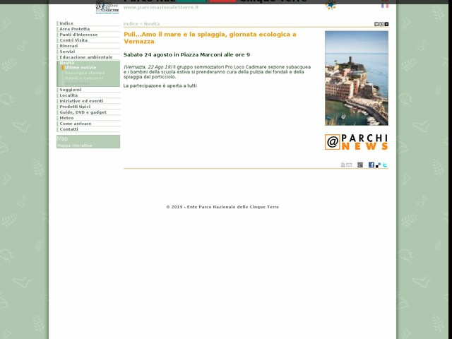 PN Cinque Terre - Puli...Amo il mare e la spiaggia, giornata ecologica a Vernazza