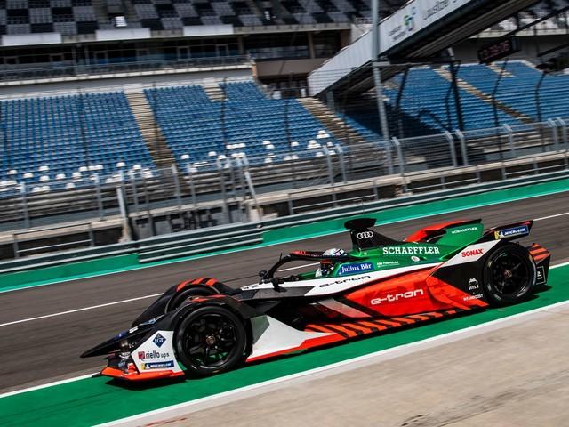 René Rast prova al Lausitzring per il team Audi Sport ABT Schaeffler di Formula E