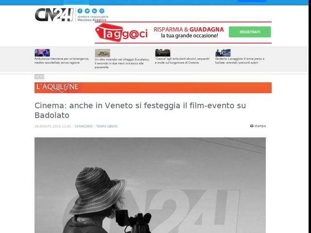 Cinema: anche in Veneto si festeggia il film-evento su Badolato