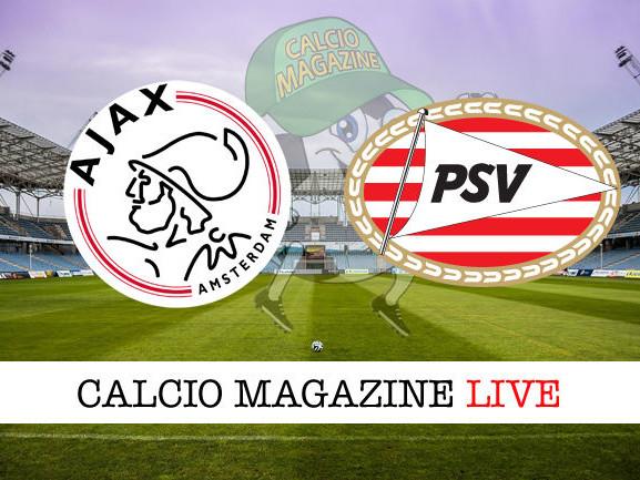 Eredivisie, Ajax – PSV Eindhoven: diretta live, risultato in tempo reale