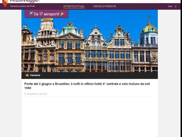 Ponte del 2 giugno a Bruxelles: 3 notti in ottimo hotel 4* centrale e volo incluso da soli 158€