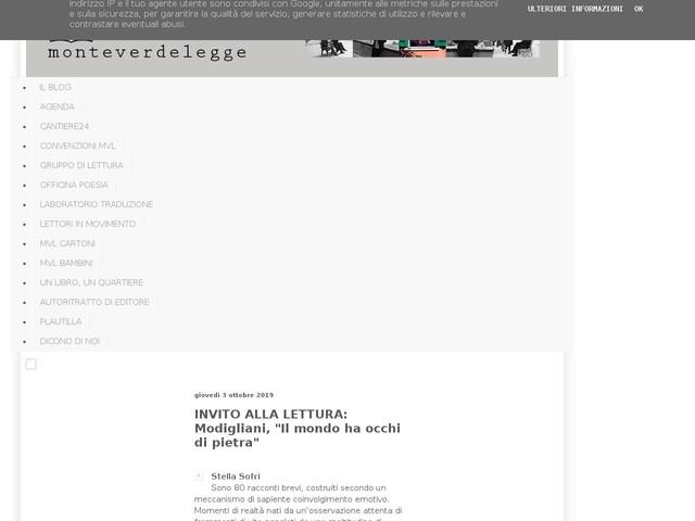 """INVITO ALLA LETTURA: Modigliani, """"Il mondo ha occhi di pietra"""""""