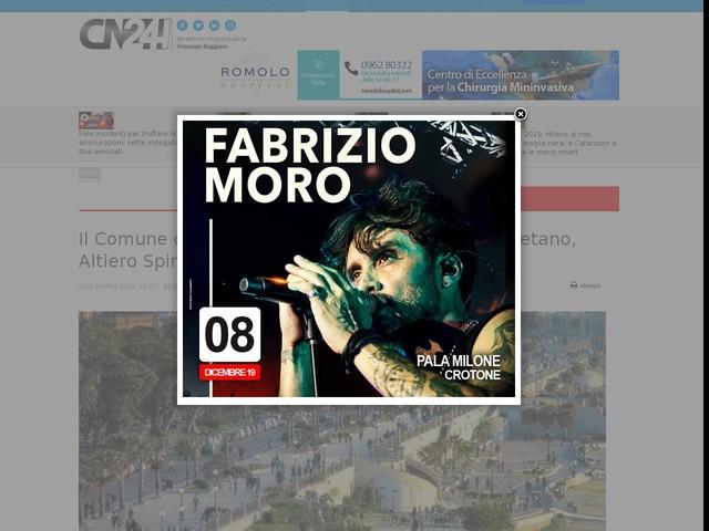 Il Comune di Reggio dedica tre rotonde a Rino Gaetano, Altiero Spinelli e ai Caduti dei Vigili del Fuoco