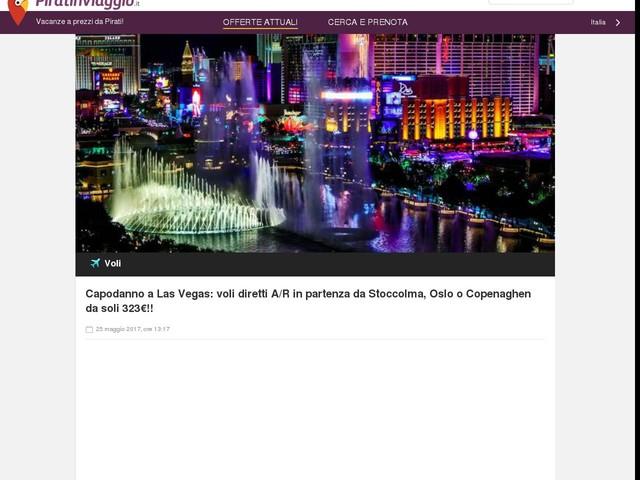 Capodanno a Las Vegas: voli diretti A/R in partenza da Stoccolma, Oslo o Copenaghen da soli 323€!!