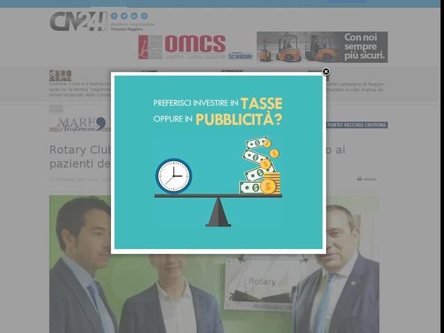 Rotary Club Catanzaro: servizio di ricarica gratuito ai pazienti dell'ospedale