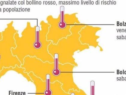 Caldo rovente: a Ferrara 49 gradi percepiti