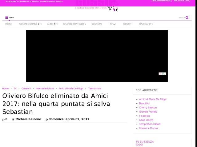 Oliviero Bifulco eliminato da Amici 2017: nella quarta puntata si salva Sebastian