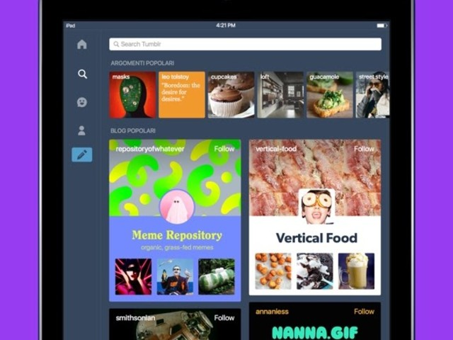 Tumblr, l'app si aggiorna alla vers 15.1.1