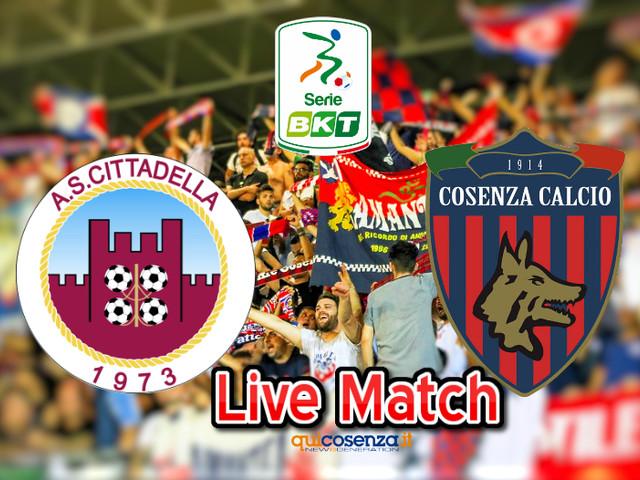 (Diretta Match) Cittadella – Cosenza 1-0 Traversa clamorosa di Luppi, rossoblu graziati