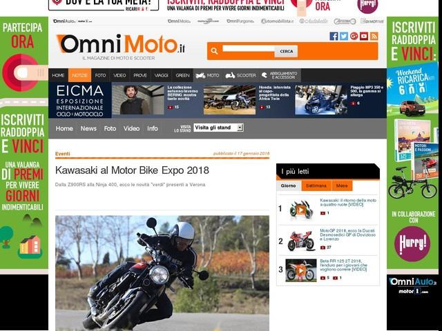 Kawasaki al Motor Bike Expo 2018