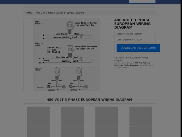 Volt 3 Phase European Wiring Diagram