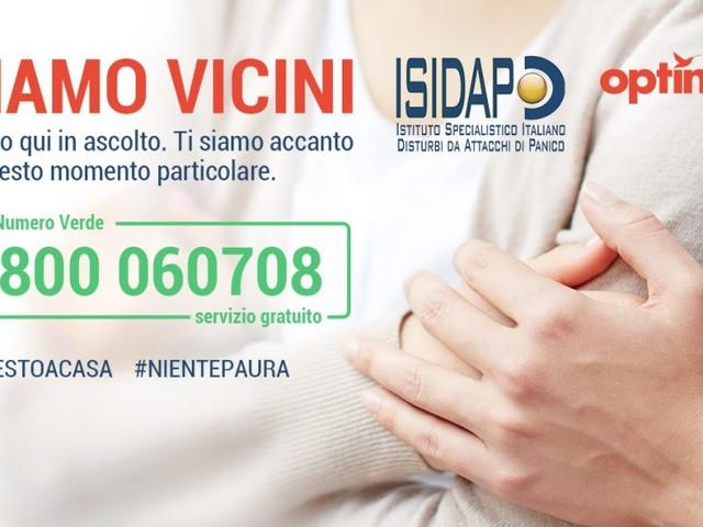 """Assistenza psicologica Coronavirus: Optima sostiene """"Siamo Vicini"""", il servizio telefonico gratuito per gestire ansia e panico"""