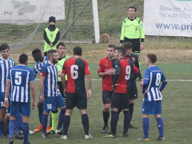 La Sangiustese si fa rimontare nel derby: il Porto Sant'Elpidio vince 2-1