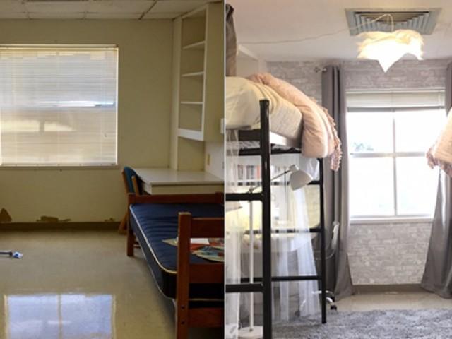 In 10 ore di lavoro, 2 matricole hanno trasformato la loro stanza del dormitorio. Le foto dimostrano che ne è valsa la pena