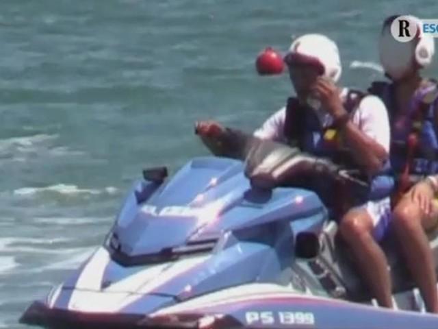 Tre poliziotti indagati per il giro sulla moto d'acqua del figlio di Salvini