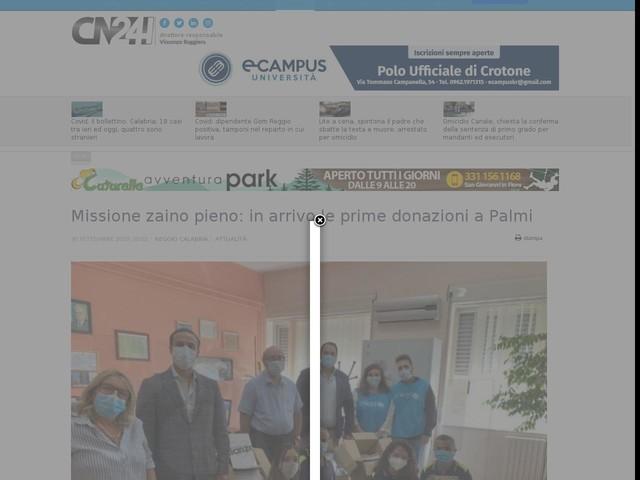 Missione zaino pieno: in arrivo le prime donazioni a Palmi