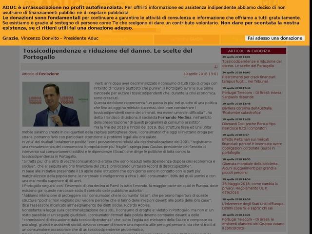 Tossicodipendenze e riduzione del danno. Le scelte del Portogallo