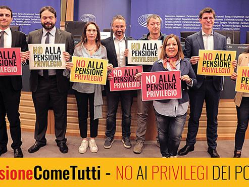 Cancelliamo gli assurdi privilegi degli europarlamentari #PensioneComeTutti