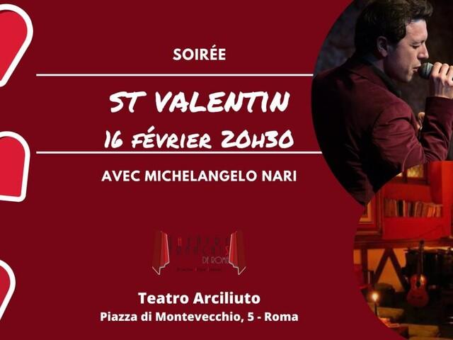 @TeatroArciliuto | Domenica 16 Febbraio 2020 Michelangelo Nari in una serata speciale per ricordare San Valentino