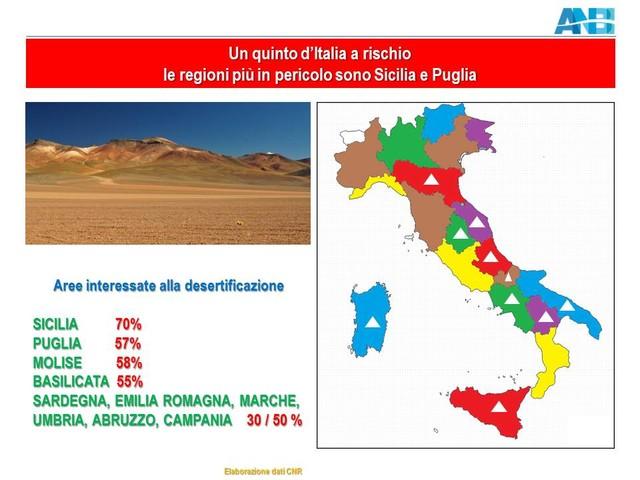 Emergenza desertificazione: a rischio il 20% dell'Italia, ma in Sicilia si arriva già al 70%